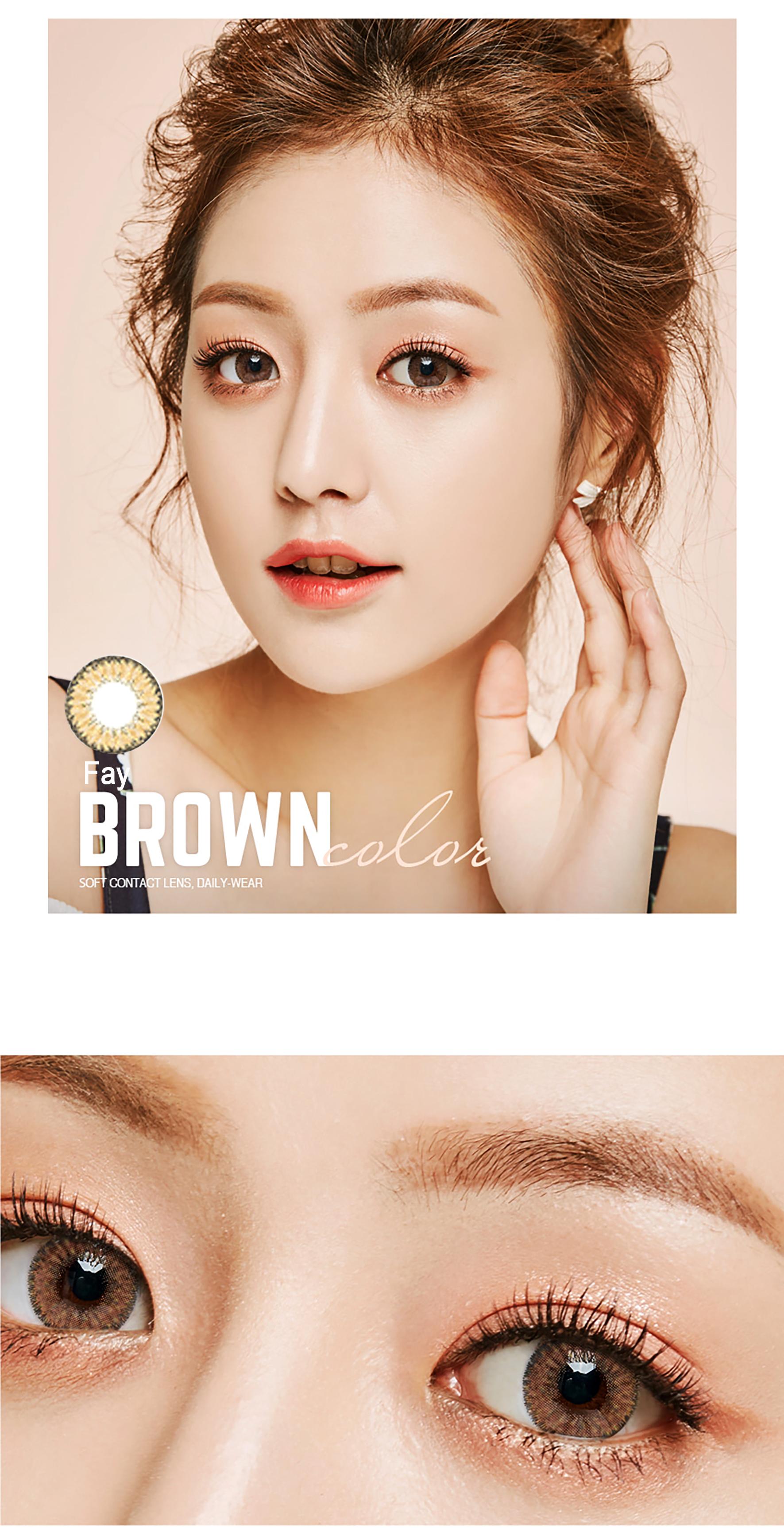 contact lens fay brown